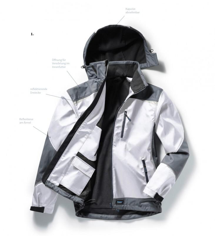 Softshell-Jacke von Pionier mit 8.000 mm Wassersäule