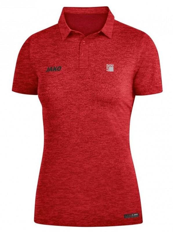 Poloshirt Damen rot-melange